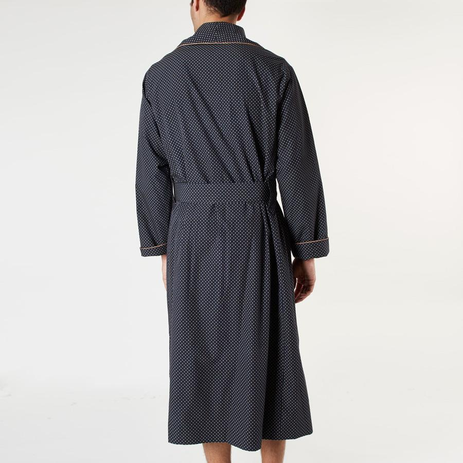 Navy Geometric Print Dressing Gown, Dressing Gowns - SIRPLUS