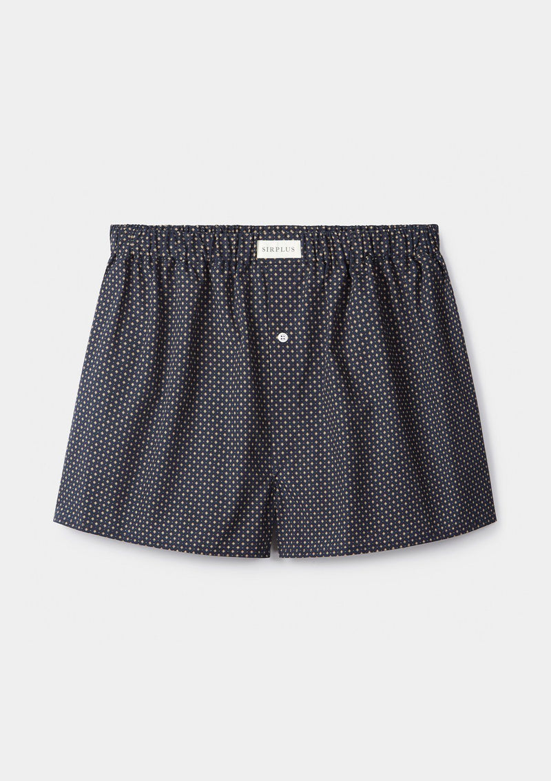 Navy Geometric Boxer Shorts