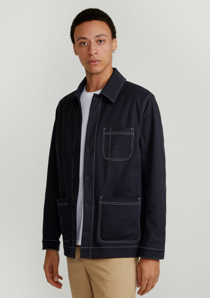 Navy Lightweight Chore Jacket