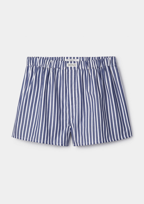 Navy Salcombe Stripe Boxer Shorts
