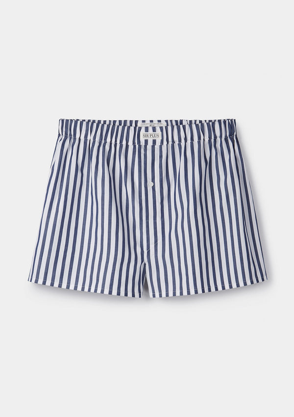 Navy Whitby Stripe Boxer Shorts