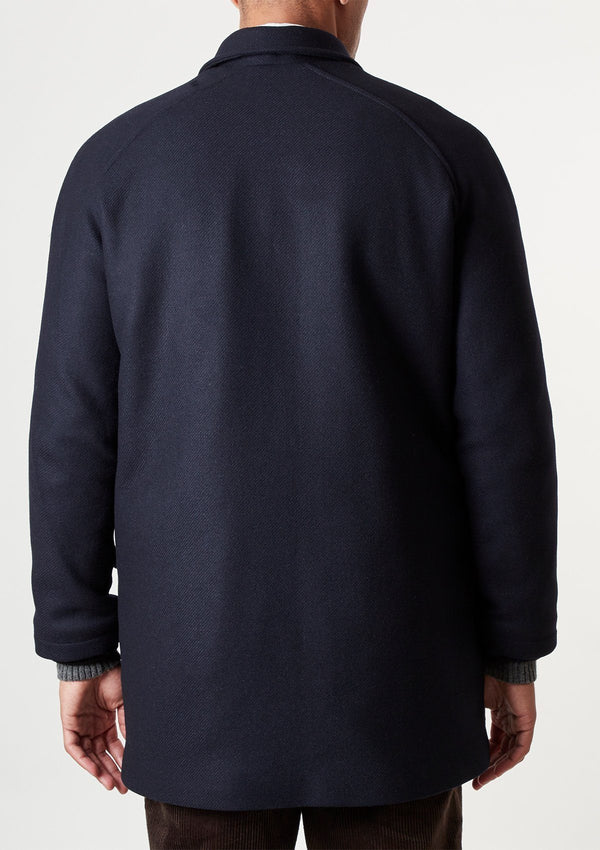 Navy Wool Field Coat