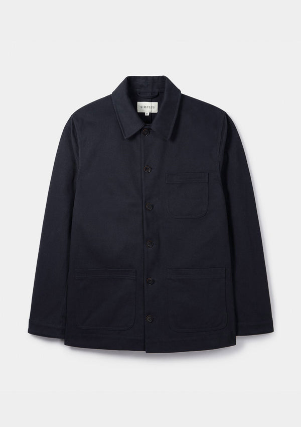 Navy Cotton Chore Jacket