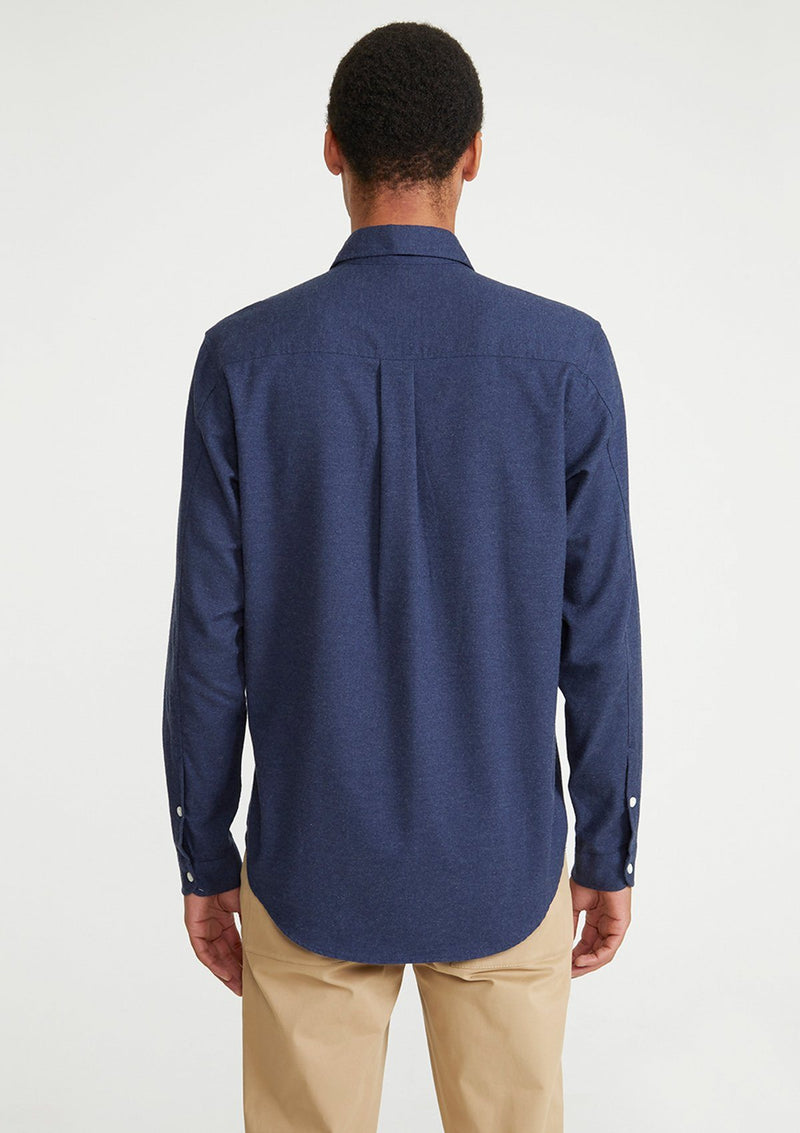 Navy Cotton Cashmere Shirt