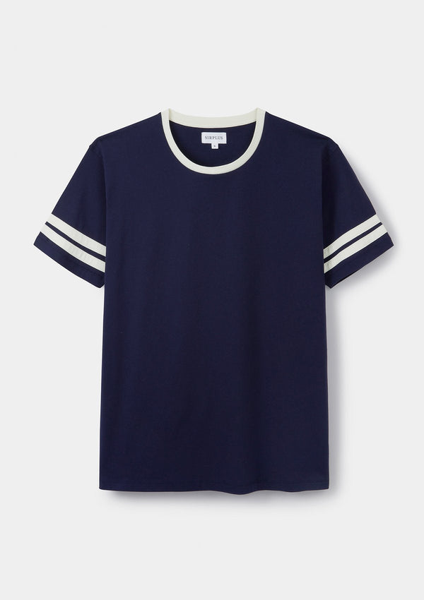Navy & White Striped T-Shirt
