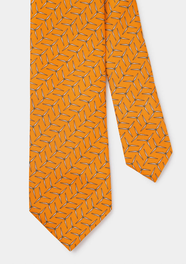 Orange Wind Turbine Tie - with charity donation