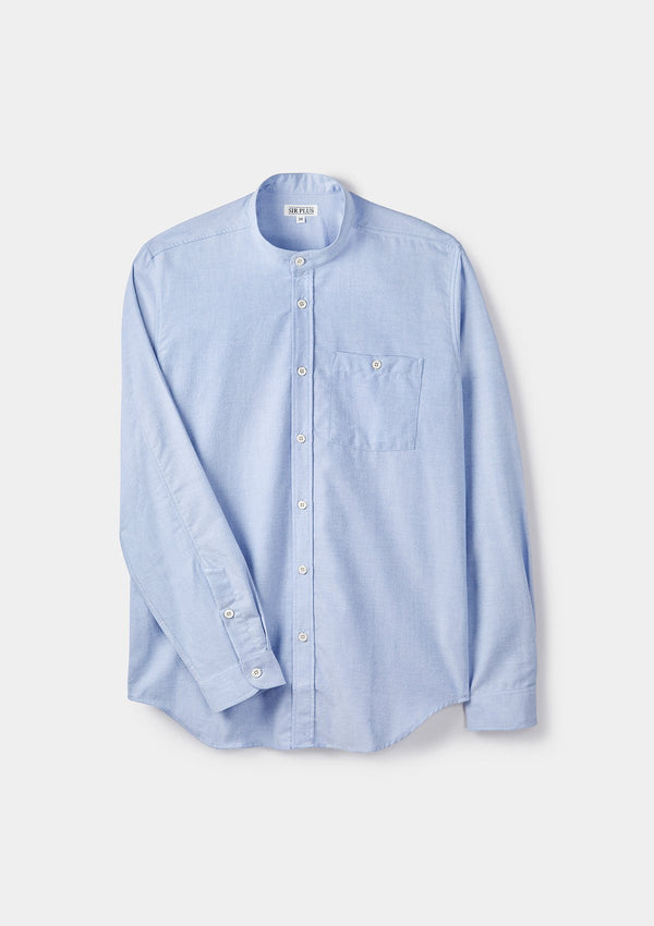 Pale Blue Oxford Grandad Shirt