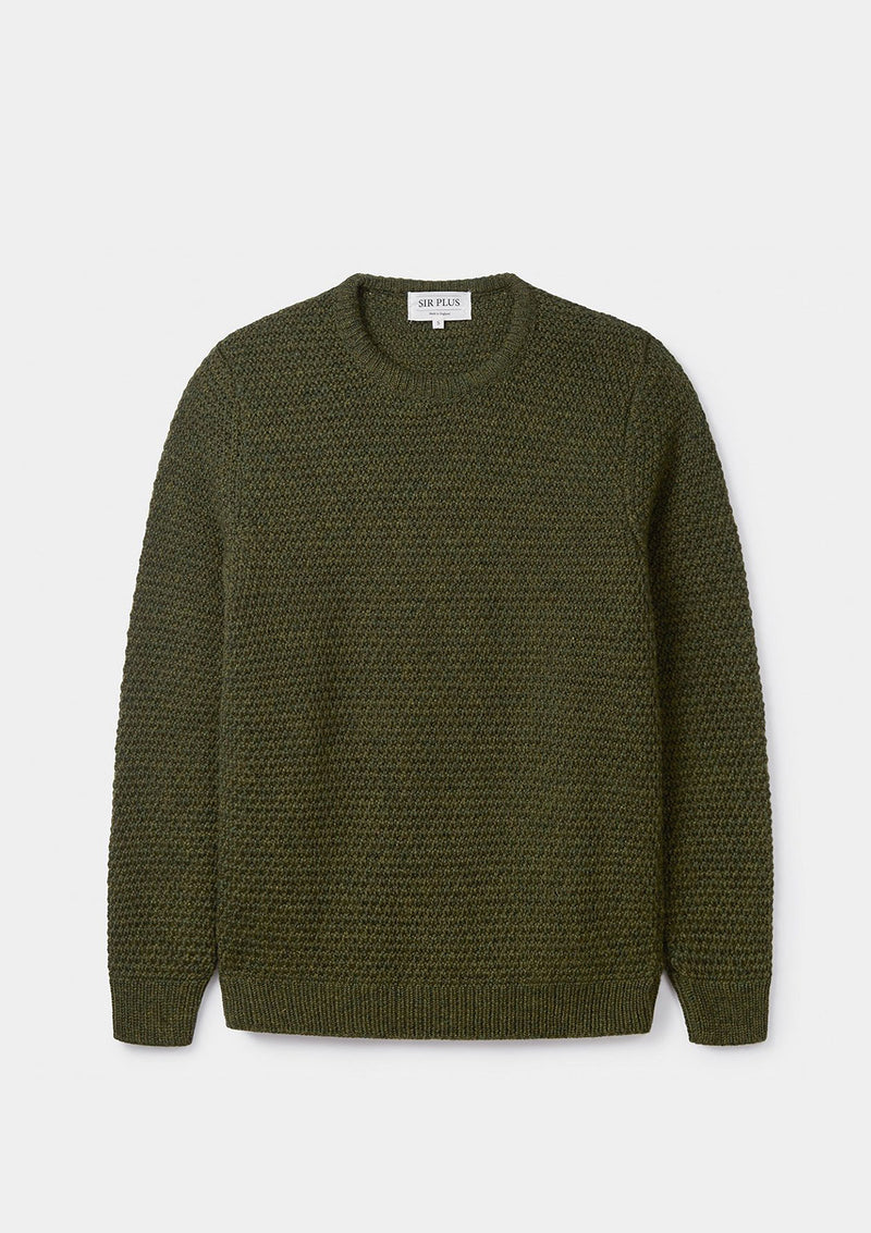 Pine Green Moss Stitch Jumper - SIRPLUS