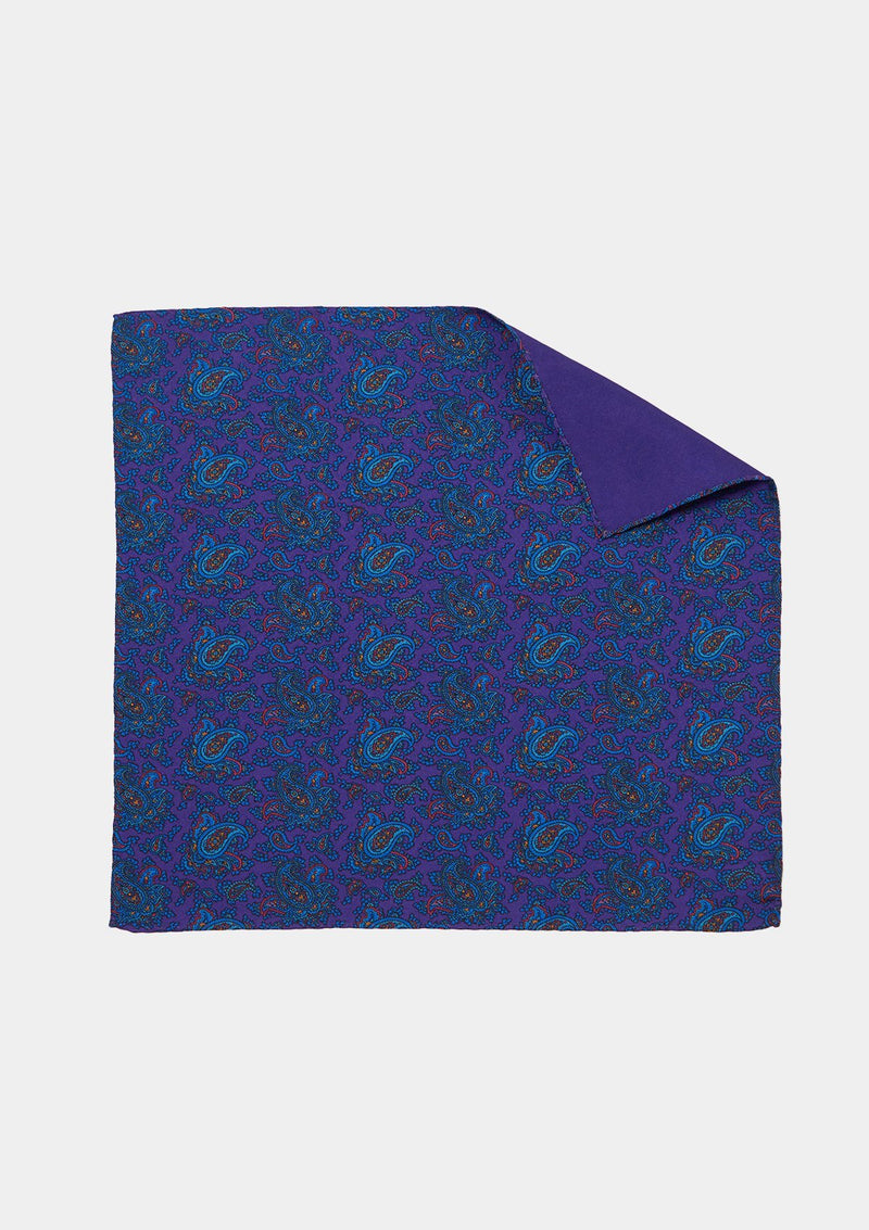 Purple Paisley Pocket Square, Pocket Squares - SIRPLUS