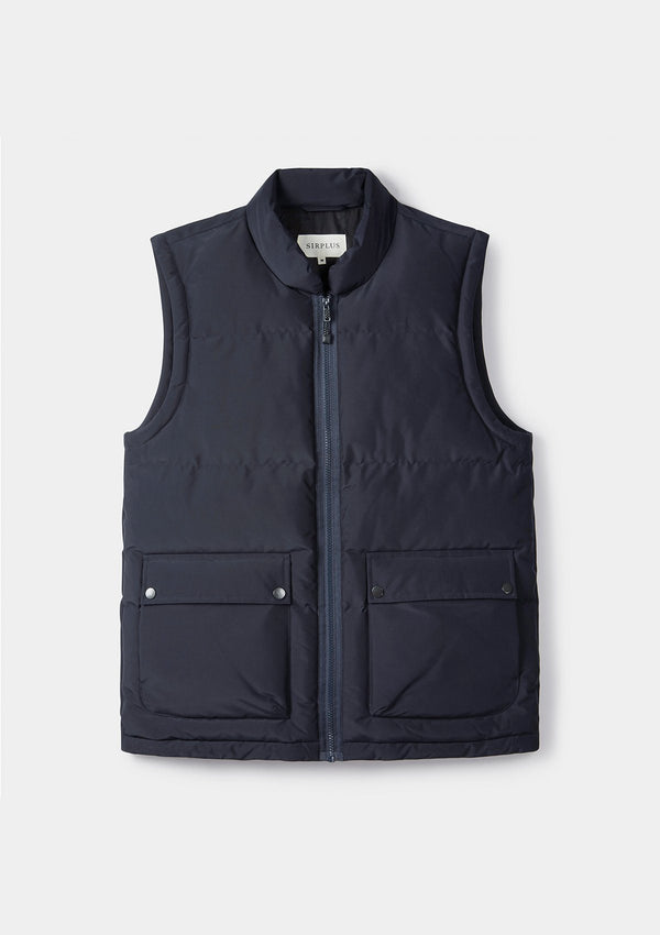 Navy Padded Recycled Gilet