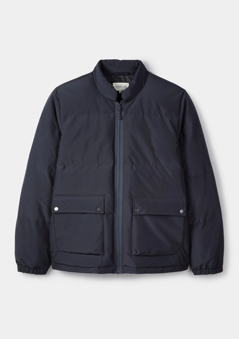 Navy Padded Recycled Jacket