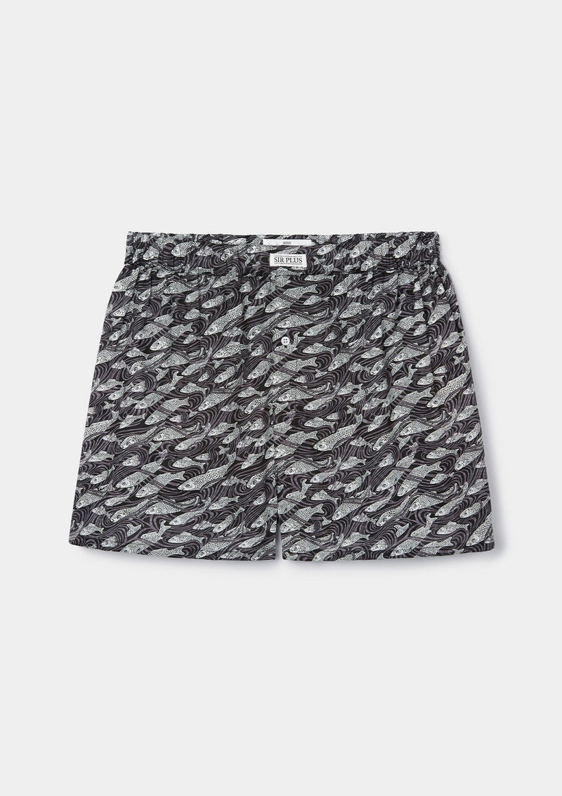River Print Boxer Shorts - Made With Liberty Fabric