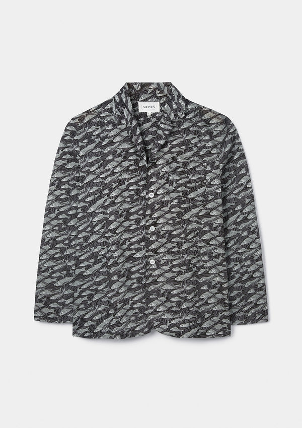 River Print Pj Shirt - Made With Liberty Fabric