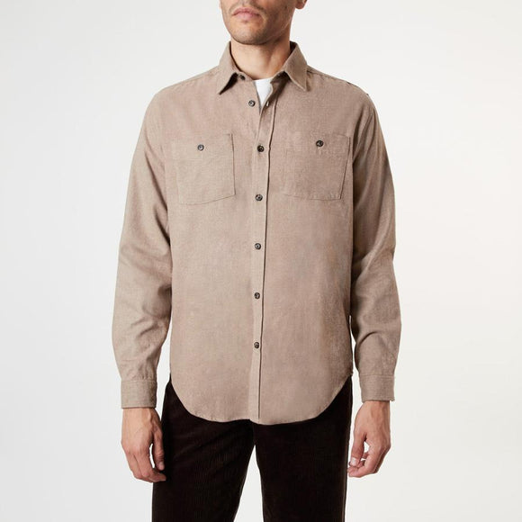 SAND CHECKED TWO POCKET SHIRT - 100% Brushed Cotton, Shirts - Sir Plus