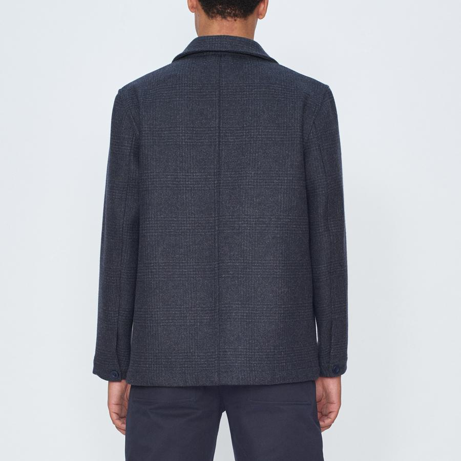 Navy Check Chore Jacket, Jackets - SIRPLUS