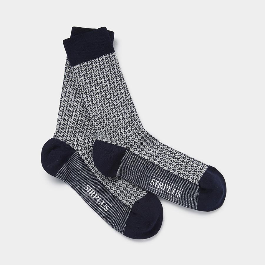 Blue Organic Cotton Socks