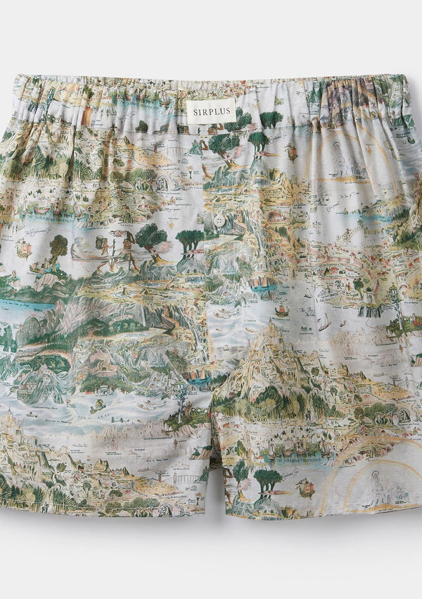 Story Island Print Boxer Shorts - Made with Liberty Fabric