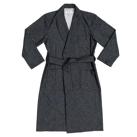 THE PAOLOZZI BLUE DRESSING GOWN - Cashmere & Wool Blend, Dressing Gowns - Sir Plus