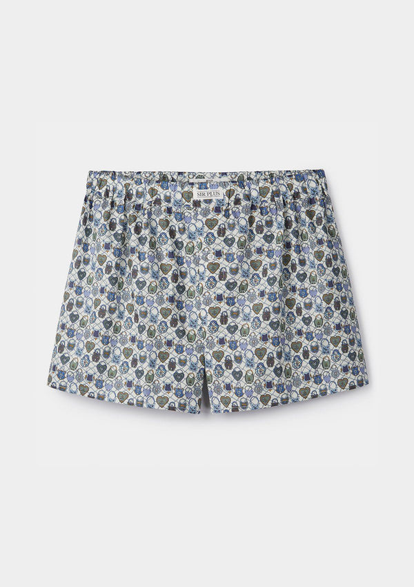 Together Locks Print Boxer Shorts - Made with Liberty Fabric