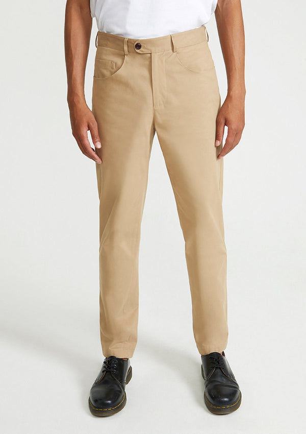 Tan Brushed Cotton Chinos