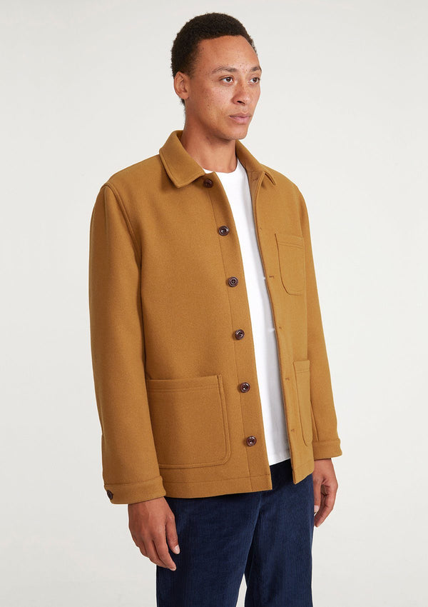 Toffee Wool Chore Jacket