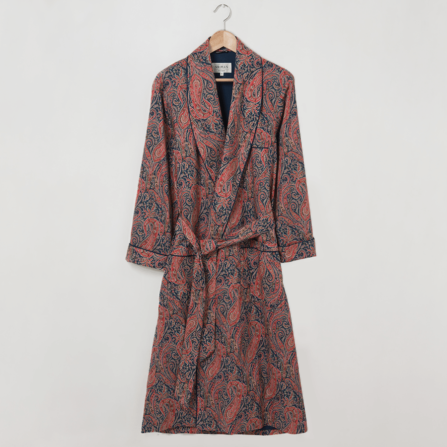 LIBERTY FELIX PAISLEY DRESSING GOWN - 100% Soft Cotton – Sir Plus