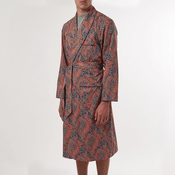 LIBERTY FELIX PAISLEY DRESSING GOWN - 100% Soft Cotton, Dressing Gowns - Sir Plus