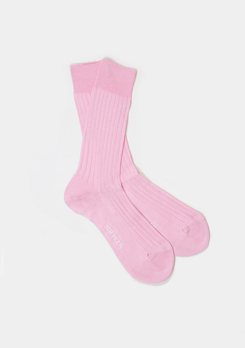 Pale Pink Rib Dress Socks - SIRPLUS