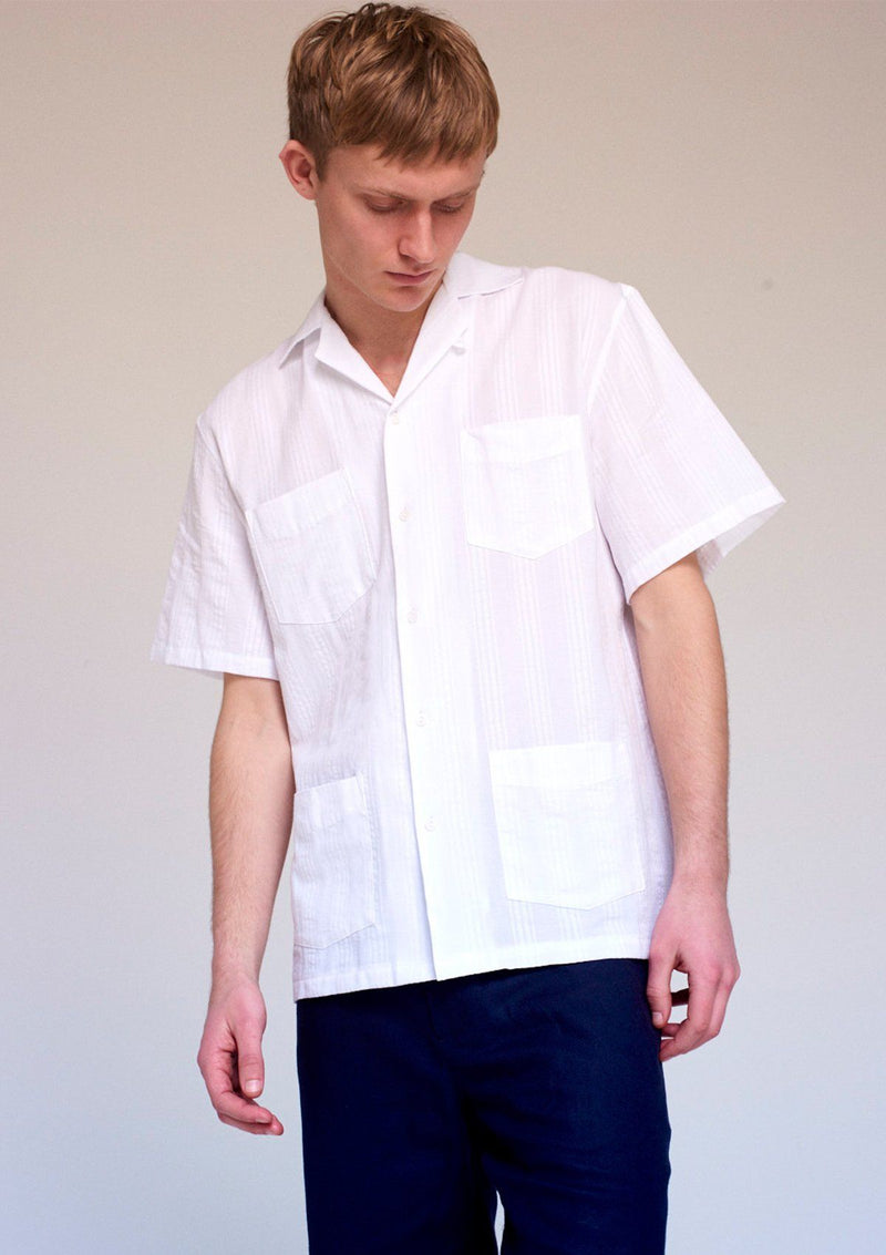 White Oahu Cuban Shirt