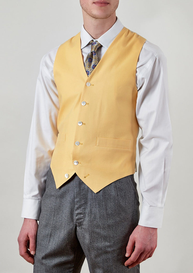 Yellow Single Breasted Waistcoat - SIRPLUS