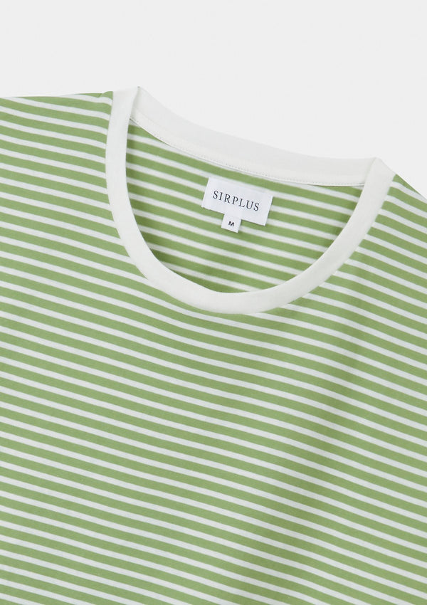 Sage Green Striped T-Shirt