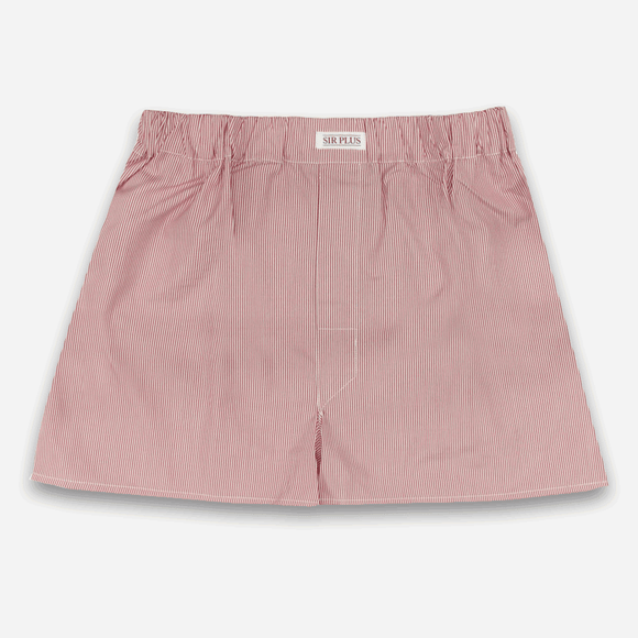 RED RYE STRIPE BOXERS - 100% Soft Cotton, Boxers - Sir Plus