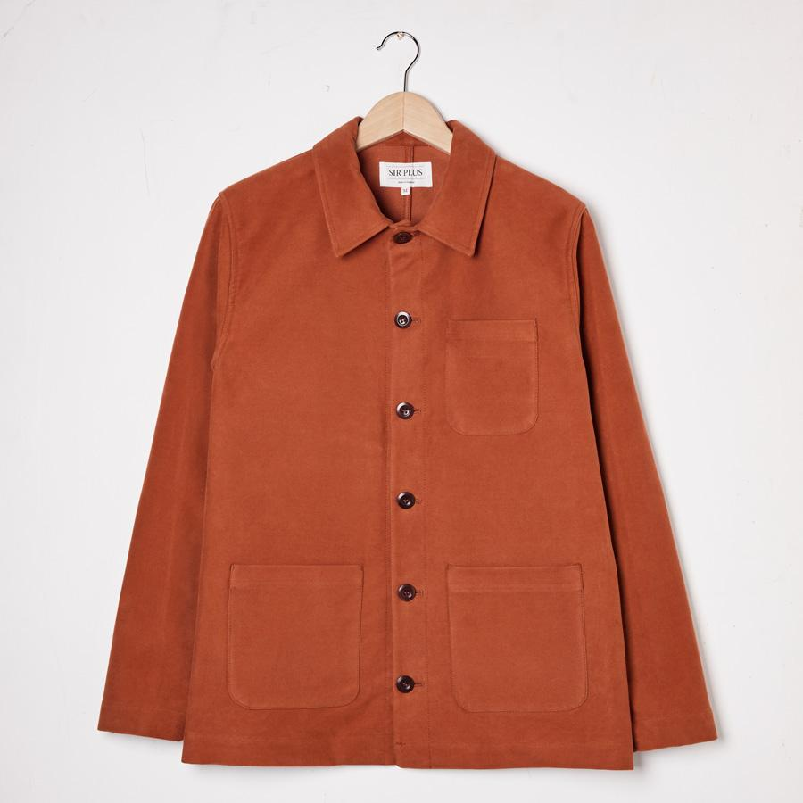 Rust Moleskin Chore Jacket, Jackets - SIRPLUS