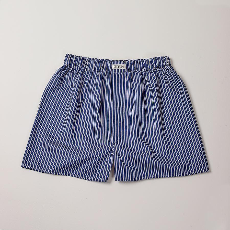 Navy Whitstable Stripe Boxers, Boxers - SIRPLUS