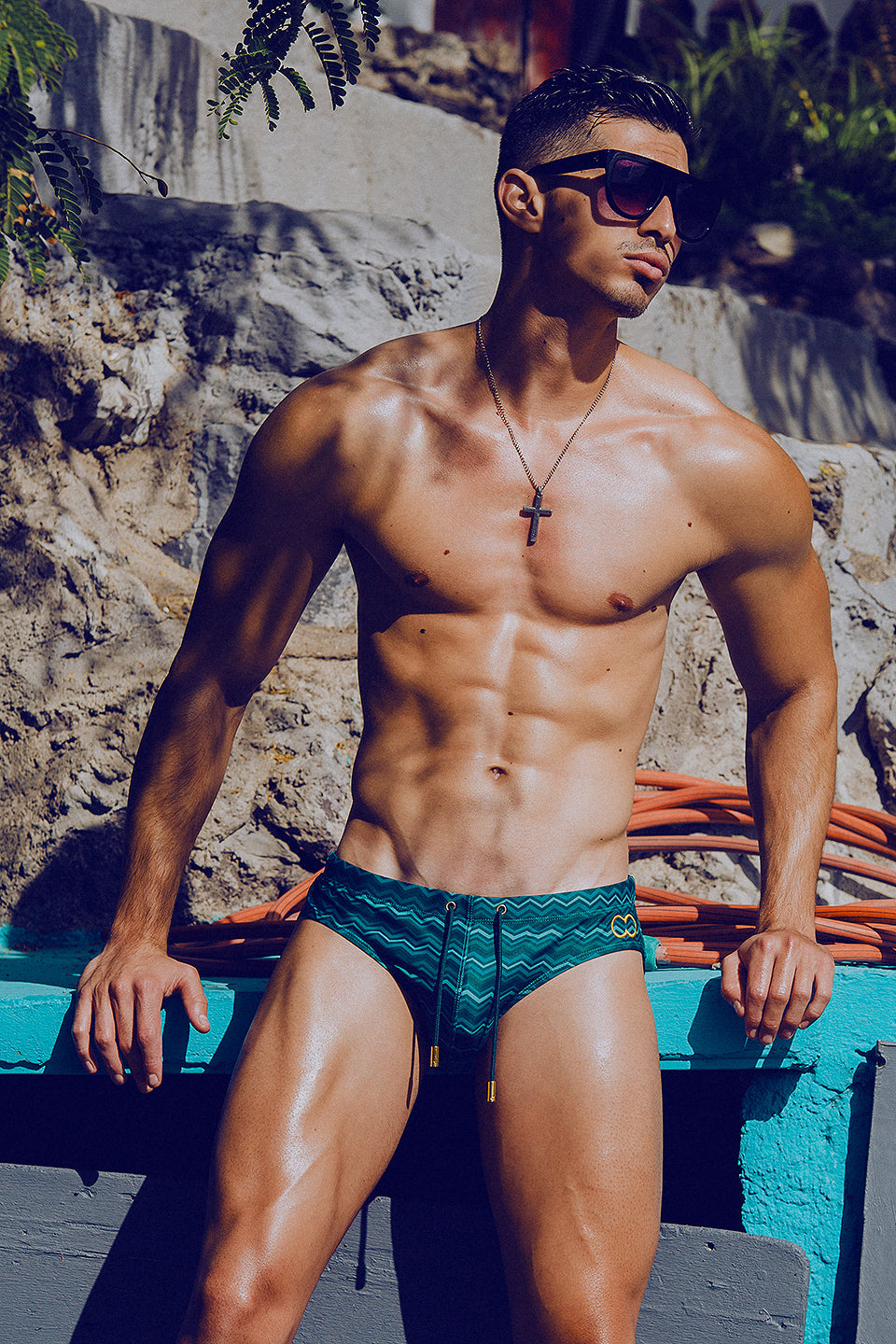 It's About The Man - Adrian C Martin - Model Mikel Roman Wearing 2Eros Swimwear