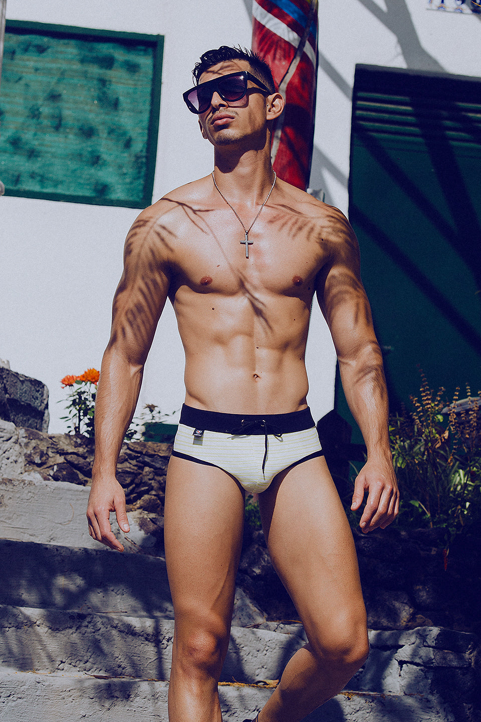 It's About The Man - Adrian C Martin - Model Mikel Roman Wears LODOLI Swimwear