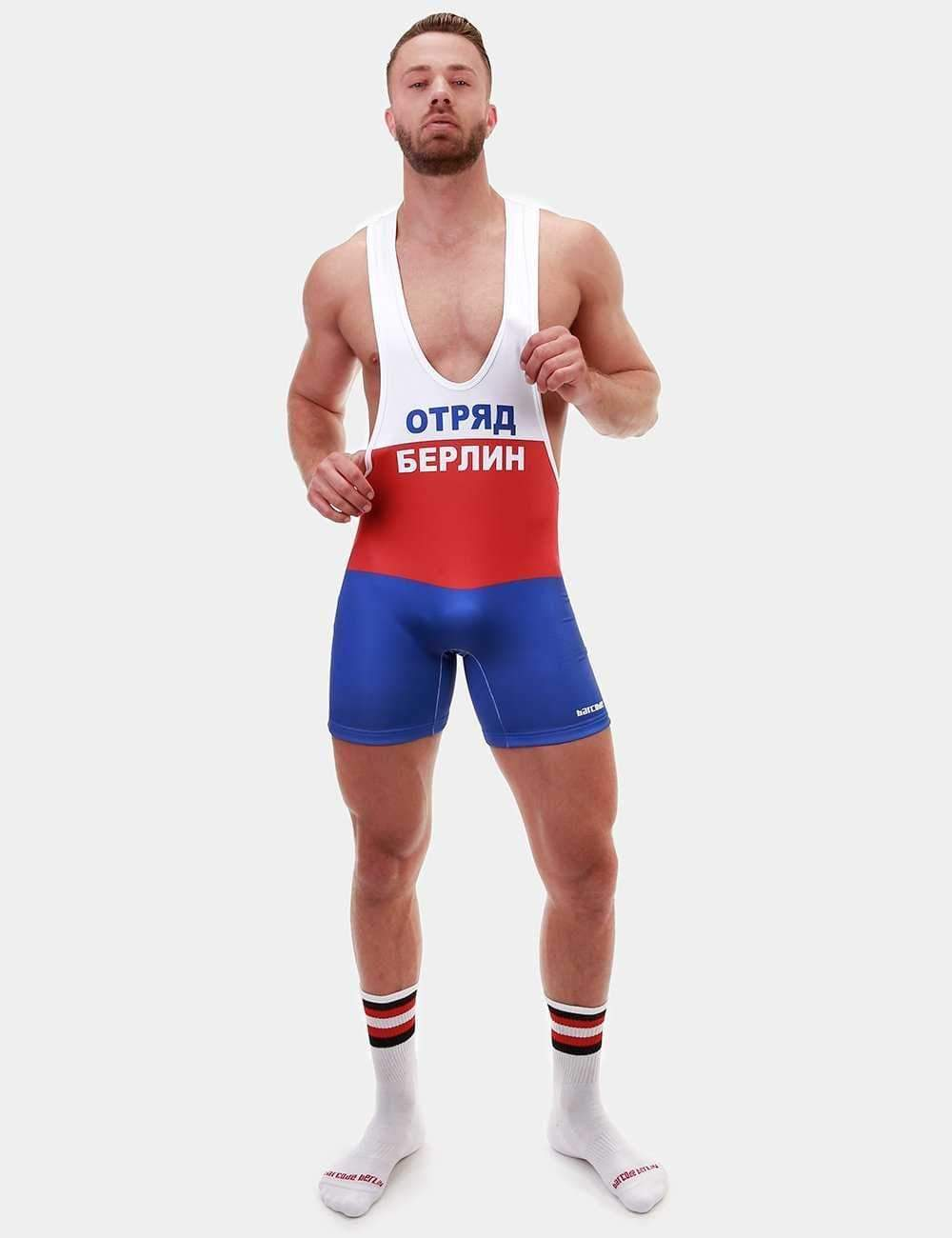 Barcode Berlin Filipp White, Red & Blue Singlet