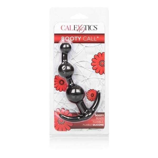 California Exotics  Booty Call Booty Beads  Black  4.75""