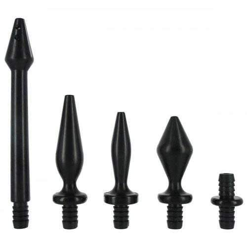 Clean Stream  Clean Stream Enema Tip Set  Black