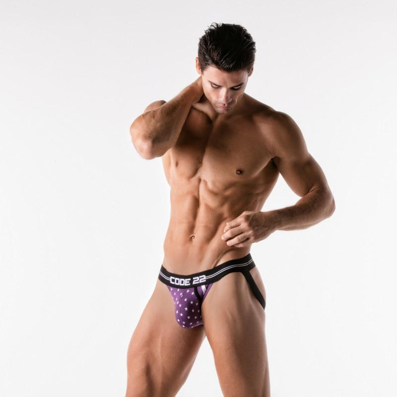 CODE 22 - 1923 MIDNIGHT STAR BLACK JOCKSTRAP