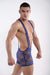 DMXGEAR Mens Transparent Blue Lace Singlet