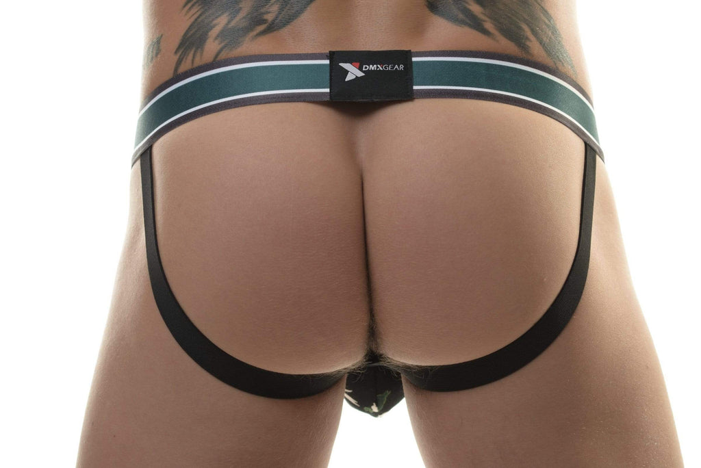 DMXGEAR Luxury Black/Yellow Jockstrap with Flora Pattern