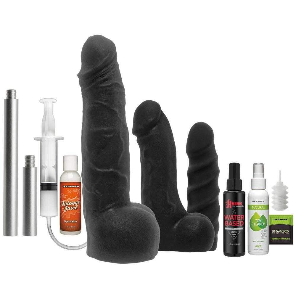 Doc Johnson  Kink Power Ranger Dildo Collector 10 Piece Kit  Black  10""
