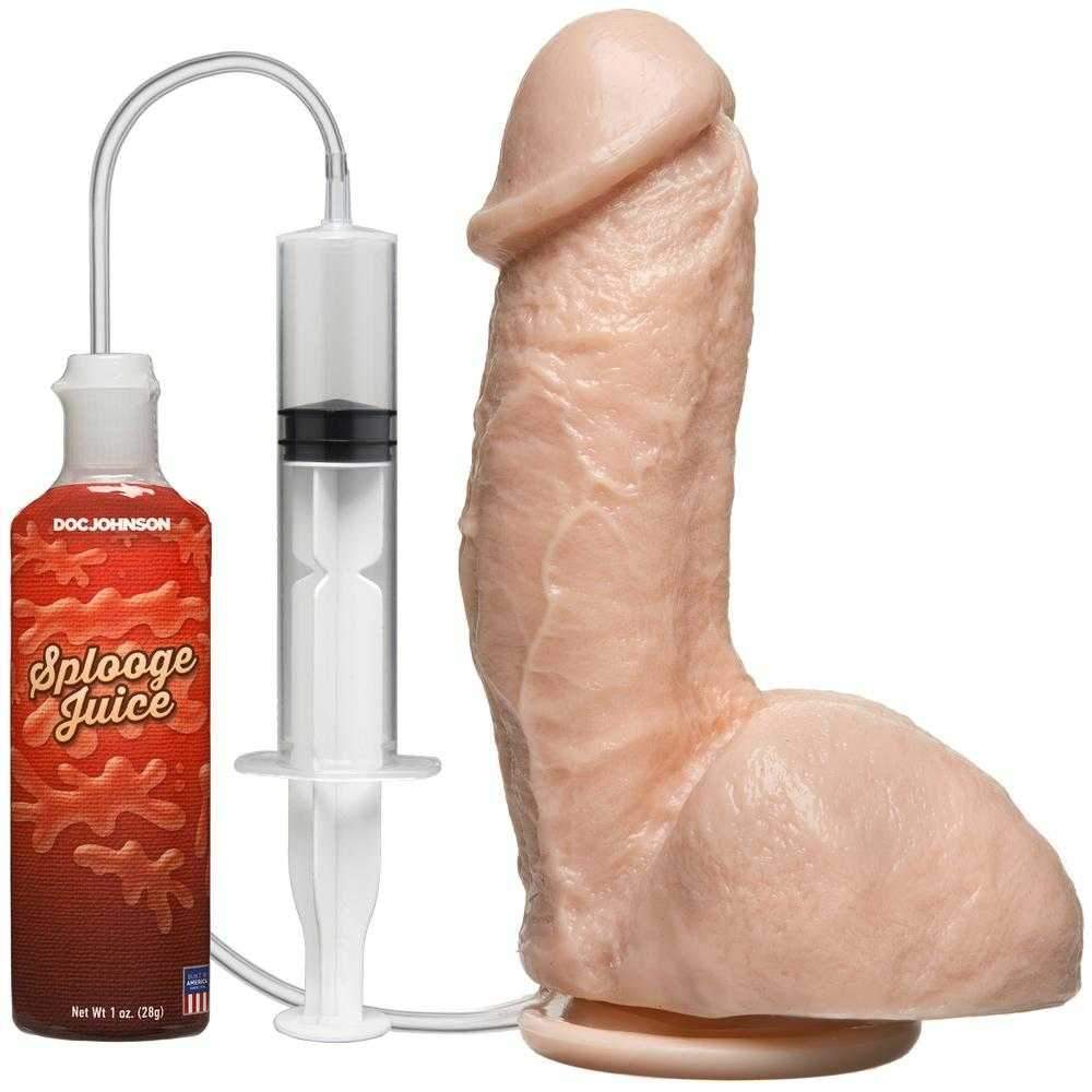 Doc Johnson  Realistic Squirting Dildo  Flesh  7""