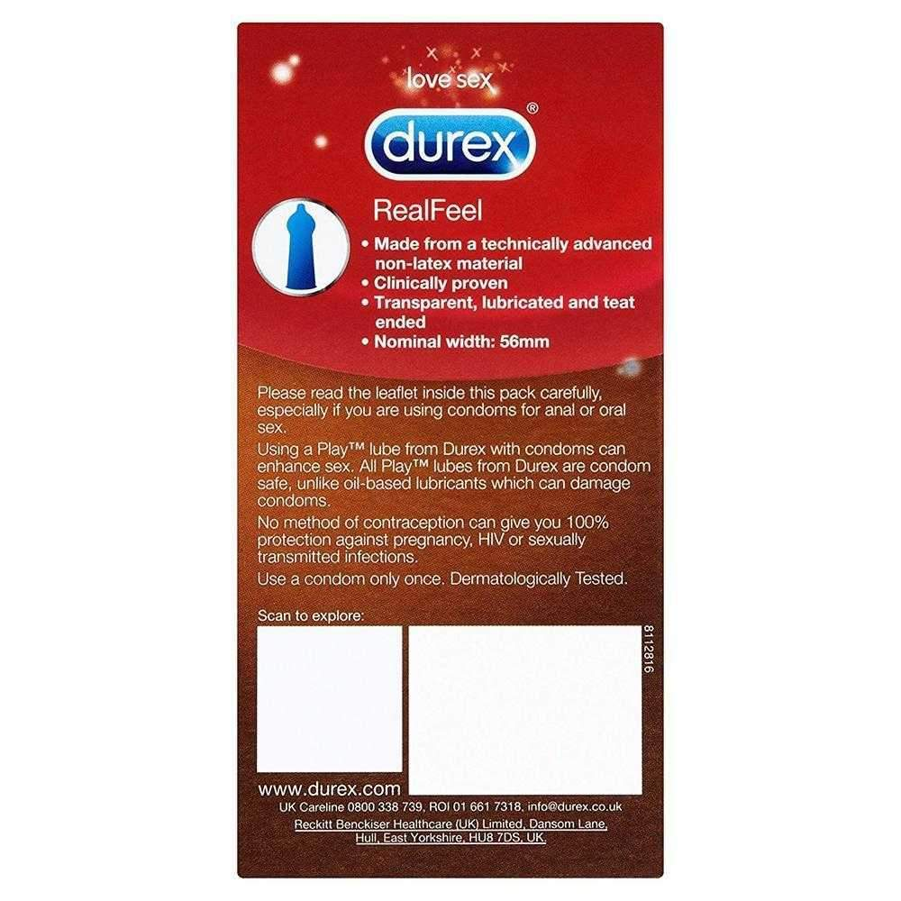 Durex Real Feel Natural Condoms Pack of 6