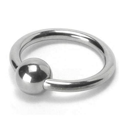Master Series  Steel Ball Head Ring  Silver