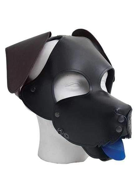 Mister B Floppy Dog Hood in Black with Brown Ears