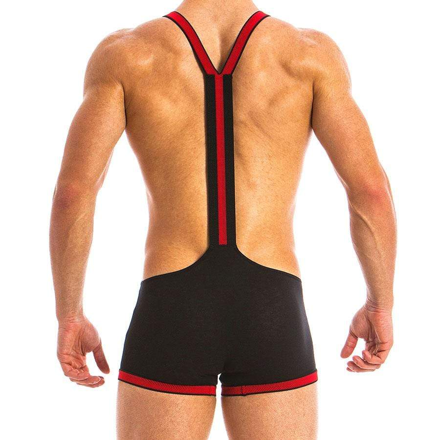 Modus Vivendi Black and Red Fetish Singlet
