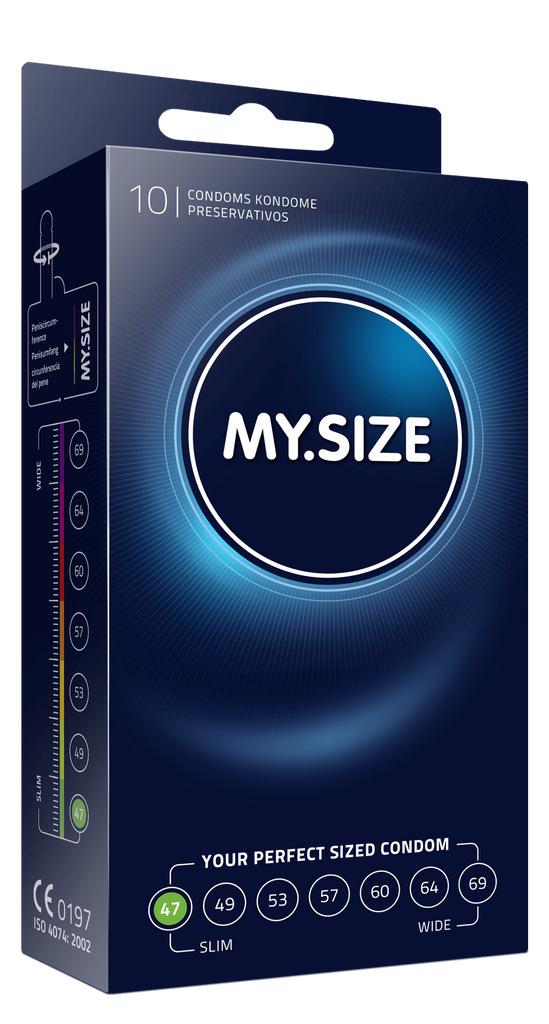 My Size 47 Condoms - Natural Latex Condoms 10 Pack