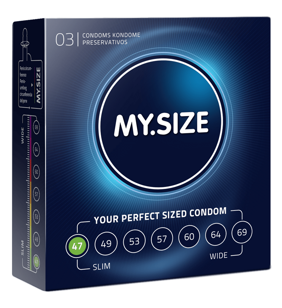 My Size 47 Condoms - Natural Latex Condoms 3 Pack